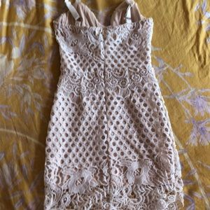 Missguided Dresses - Misguided crochet corset bodycon dress